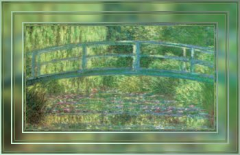 Bridge painting by Monet