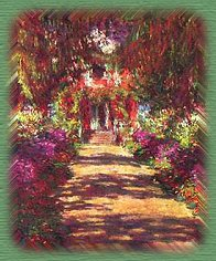 Monet's Garden Path At Giverny